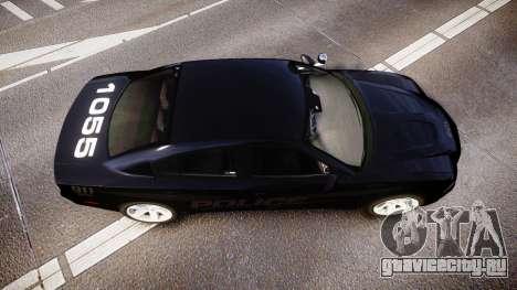 Dodge Charger LC Police Stealth [ELS] для GTA 4 вид справа
