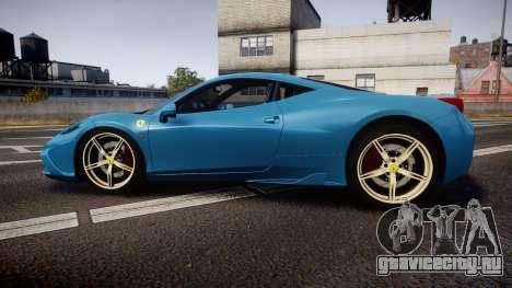 Ferrari 458 Speciale 2014 для GTA 4 вид слева