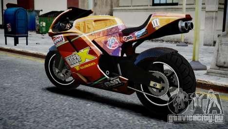 Bike Bati 2 HD Skin 1 для GTA 4 вид слева