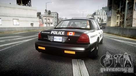 Ford Crown Victoria Alderney Police для GTA 4 вид сзади слева