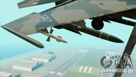 Sukhoi SU-35BM Mobius Squadron для GTA San Andreas вид справа