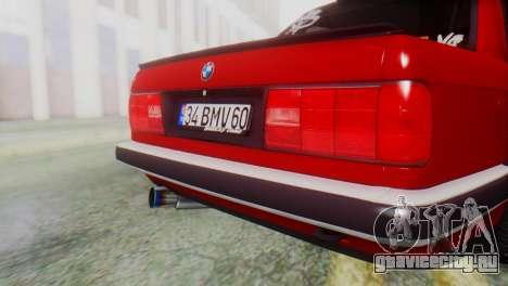BMW M3 E30 B.O. Yapım для GTA San Andreas вид сзади