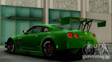 Nissan GT-R (R35) GT3 2012 PJ1 для GTA San Andreas вид сзади слева