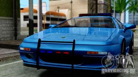 Lotus Esprit S4 V8 1998 Police Edition для GTA San Andreas