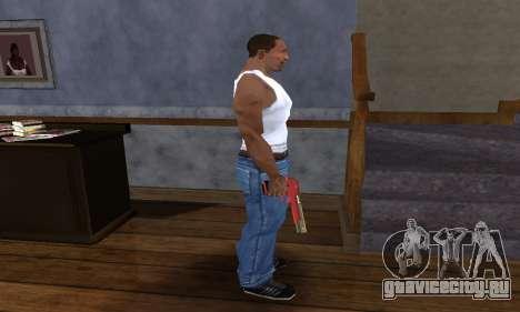 Black and Red Deagle для GTA San Andreas третий скриншот