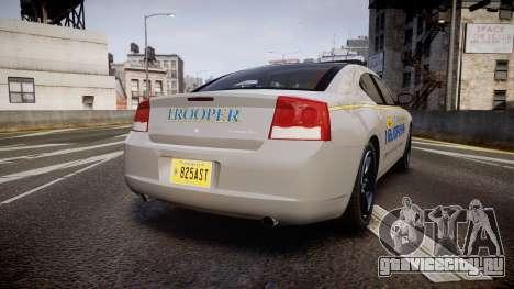 Dodge Charger Alaska State Trooper [ELS] для GTA 4 вид сзади слева