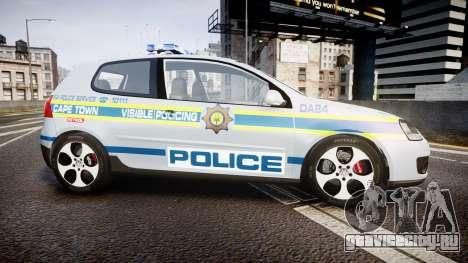 Volkswagen Golf South African Police [ELS] для GTA 4 вид слева