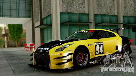 Nissan GT-R (R35) GT3 2012 PJ1 для GTA San Andreas вид сзади