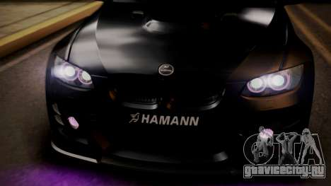 BMW M3 E92 Hamman для GTA San Andreas вид сверху