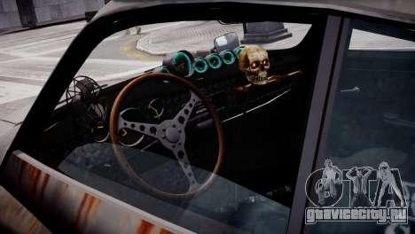 Volkswagen Karmann Ghia 67 (Slammed Rat) для GTA 4 вид сзади