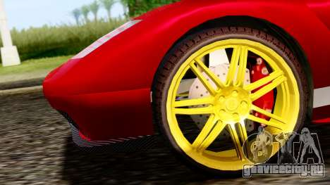 Pegassi Infernus Cento Miglia для GTA San Andreas вид сзади слева