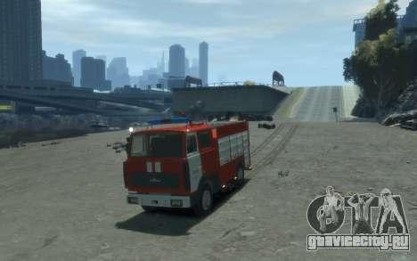 МАЗ 533702 Пожарный г. Липецк для GTA 4 вид сзади слева