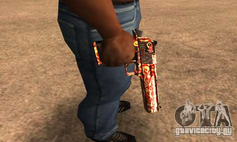 Red Splash Deagle для GTA San Andreas