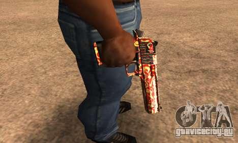 Red Splash Deagle для GTA San Andreas