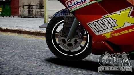 Bike Bati 2 HD Skin 1 для GTA 4 вид сзади слева