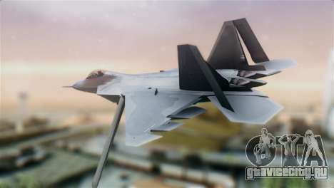 F-22 Raptor для GTA San Andreas вид слева