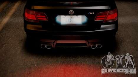 BMW M3 E92 Hamman для GTA San Andreas салон