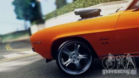 Chevrolet Camaro SS Dragster для GTA San Andreas вид справа