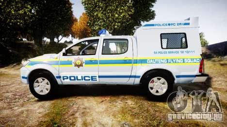 Toyota Hilux 2010 South African Police [ELS] для GTA 4 вид слева