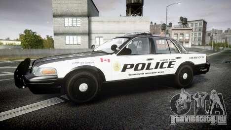 Ford Crown Victoria Alderney Police для GTA 4 вид слева