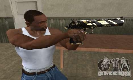 Gold Lines Deagle для GTA San Andreas второй скриншот