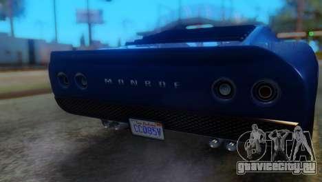 GTA 5 Pegassi Monroe IVF для GTA San Andreas вид сзади