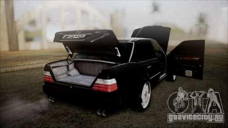 Mercedes-Benz W124 E500 для GTA San Andreas вид изнутри