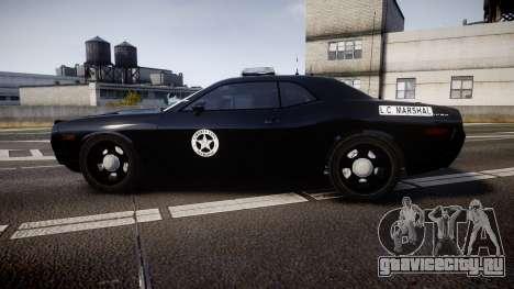 Dodge Challenger Marshal Police [ELS] для GTA 4 вид слева