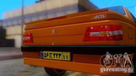 Peugeot 405 Slx Taxi для GTA San Andreas вид сзади