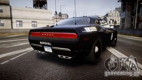 Dodge Challenger Marshal Police [ELS] для GTA 4 вид сзади слева
