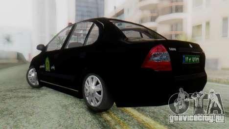 SAIPA Tiba Police v1 для GTA San Andreas вид слева