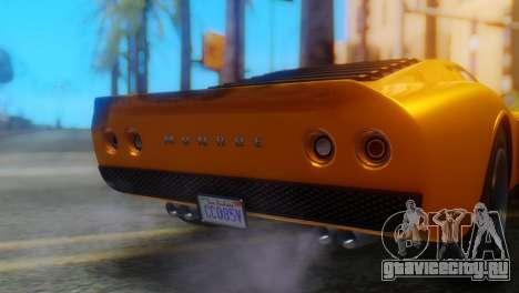GTA 5 Pegassi Monroe для GTA San Andreas вид сзади