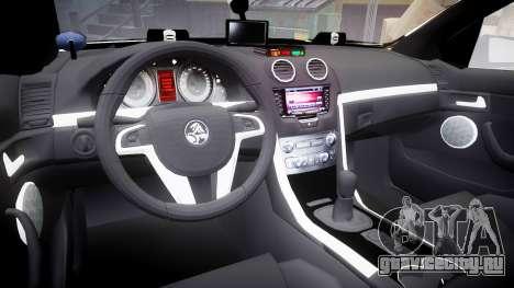 Holden VE Commodore SS Police HWP [ELS] для GTA 4 вид сзади