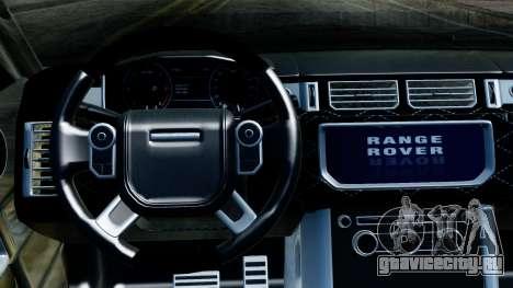 Range Rover Vogue Lumma Stratech для GTA San Andreas вид сзади