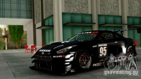 Nissan GT-R (R35) GT3 2012 PJ1 для GTA San Andreas вид изнутри