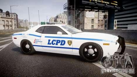 Dodge Challenger LCPD [ELS] для GTA 4 вид слева
