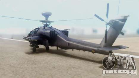 AH-64D Apache Longbow для GTA San Andreas вид слева