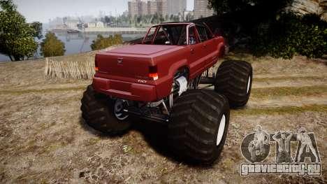 Albany Cavalcade FXT Cabrio Monster Truck для GTA 4 вид сзади слева