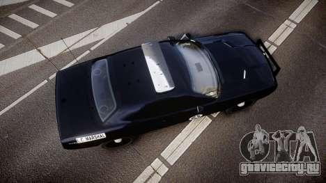 Dodge Challenger Marshal Police [ELS] для GTA 4 вид справа
