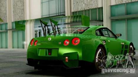 Nissan GT-R (R35) GT3 2012 PJ1 для GTA San Andreas вид слева