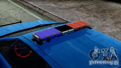 Lotus Esprit S4 V8 1998 Police Edition для GTA San Andreas вид сзади слева