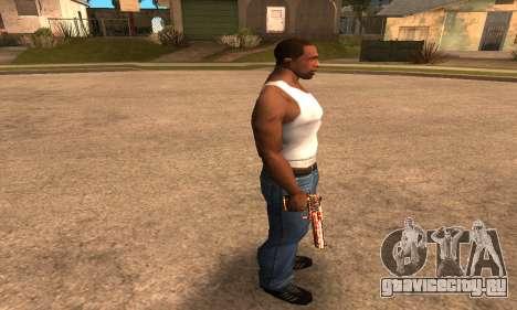 Red Splash Deagle для GTA San Andreas третий скриншот