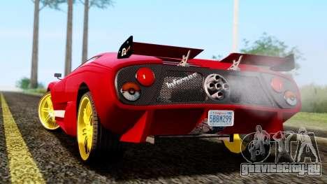 Pegassi Infernus Cento Miglia для GTA San Andreas вид слева