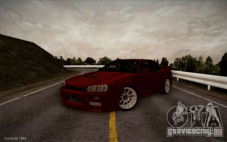 Nissan Skyline (ER34) 2015 для GTA San Andreas вид справа