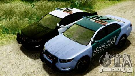 GTA 5 Vapid Police Interceptor v2 IVF для GTA San Andreas вид изнутри