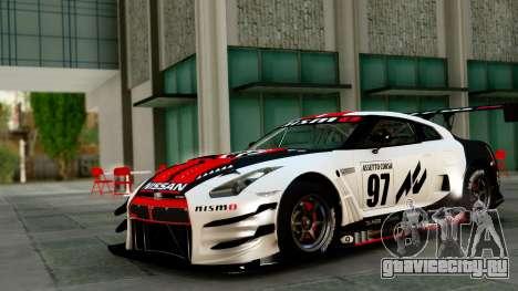 Nissan GT-R (R35) GT3 2012 PJ1 для GTA San Andreas вид сверху