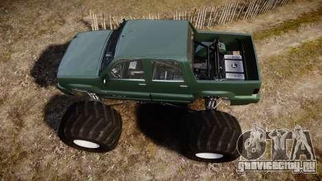 Albany Cavalcade FXT Monster Truck для GTA 4 вид справа