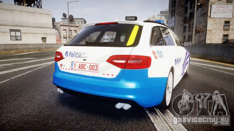 Audi S4 Avant Belgian Police [ELS] для GTA 4 вид справа