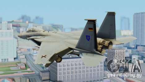 F-15C Eagle Luftwaffe JG 73 для GTA San Andreas вид слева