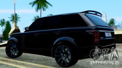 Range Rover Vogue Lumma Stratech для GTA San Andreas вид сзади слева